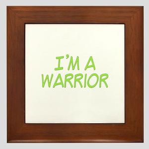I'm A Warrior [Grn] Framed Tile
